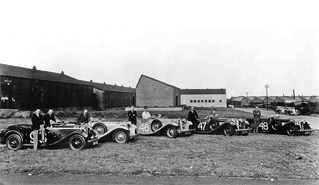Jaguar SS entries on the 1934 Alpine Rally