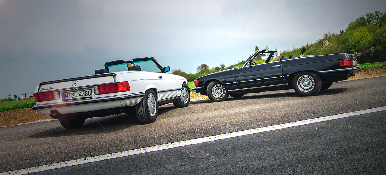 Mercedes-Benz 350SL and 500SL - two V8 powered R107