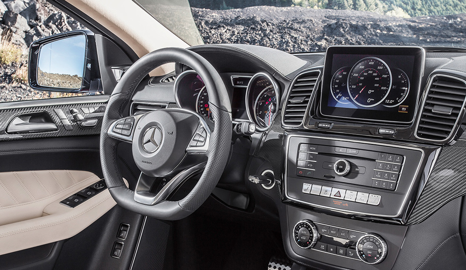 The 450 AMG has a 362bhp V6 biturbo engine.