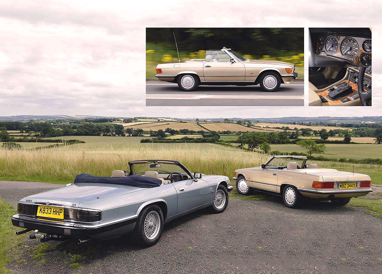 Mercedes-Benz SL R107 and Jaguar XJ-S