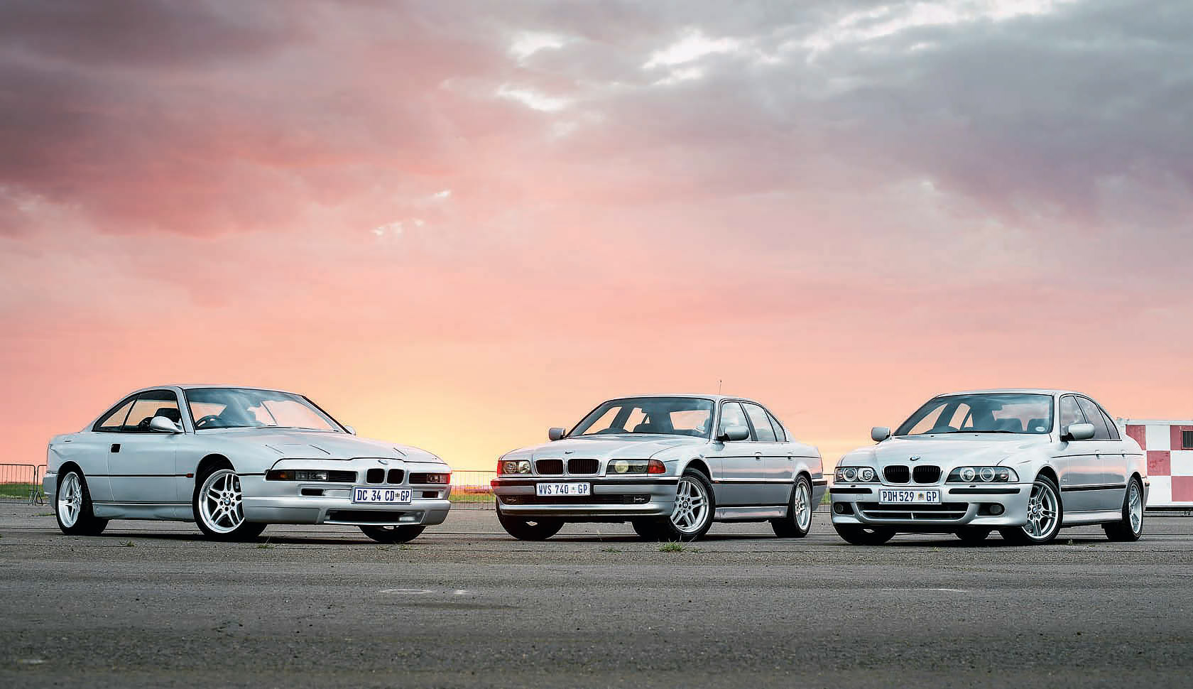 BMW E31 840Ci, E38 740i and E39 540i