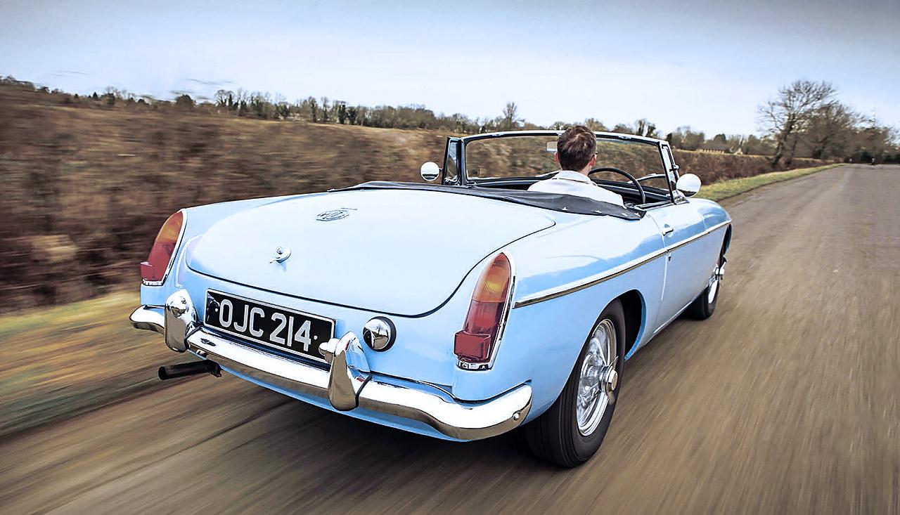 1964 MGB road test - rear