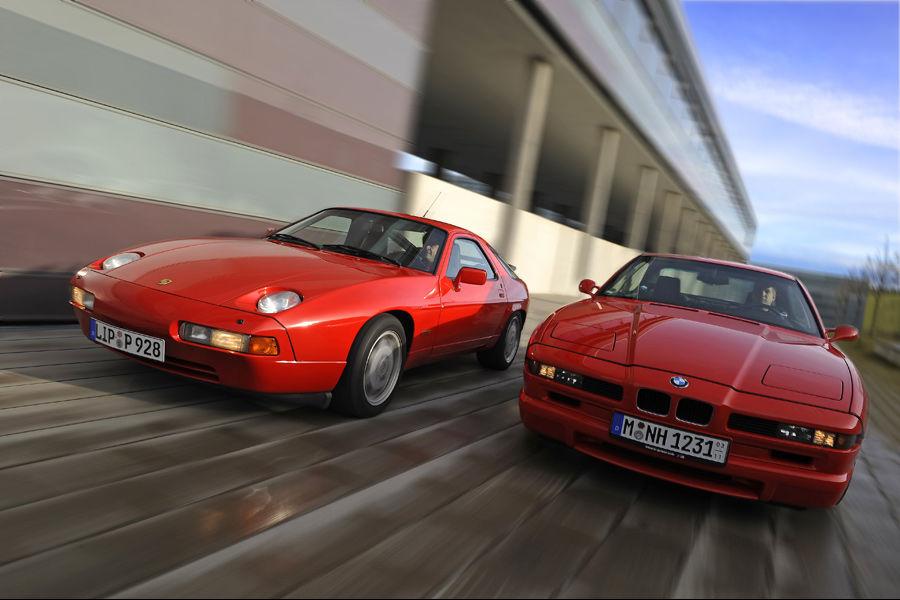 BMW 850i E31 vs. Porsche 928 GTS