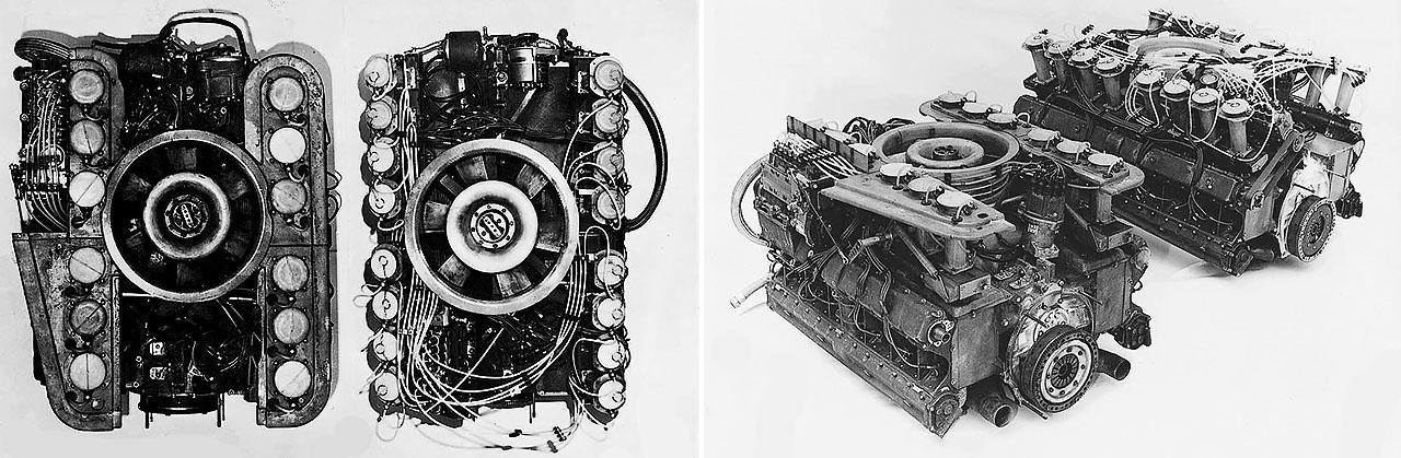 16-cylinder Porsche engine