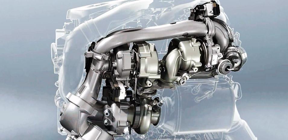 N57 BMW - 3-turbo system of 381bhp version