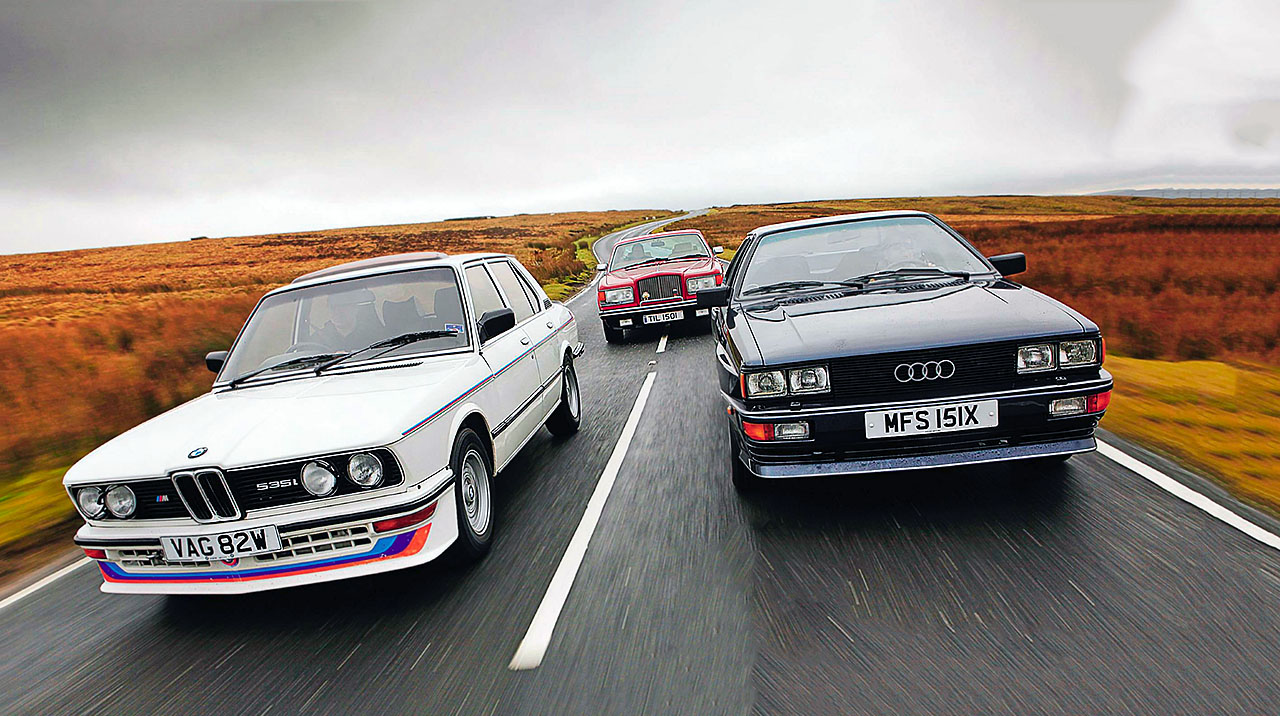 BMW M535i E12, Audi Ur-Quattro and Bentley Mulsanne Turbo