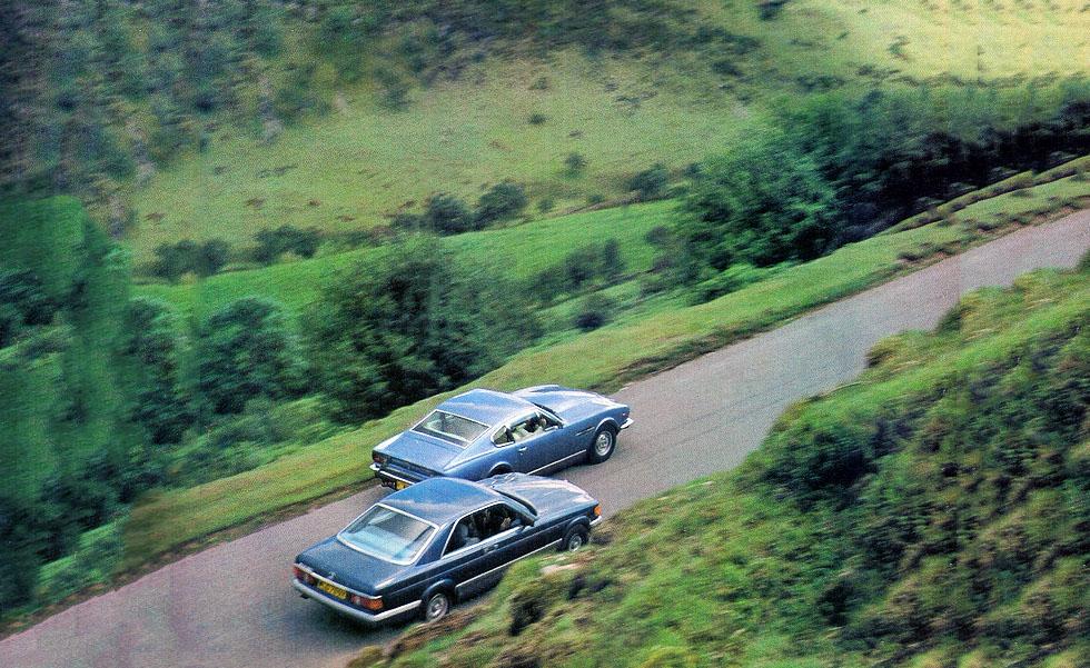 Aston Martin V8 vs. Mercedes-Benz 500 SEC C126 - 1982 road test