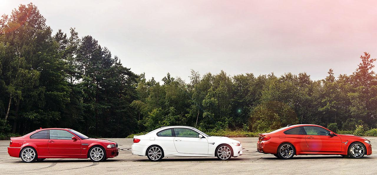 BMW M3 E46 vs. M3 E92 and new M4 F82