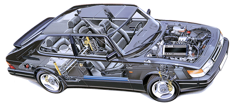 Saab 900 Turbo Construction