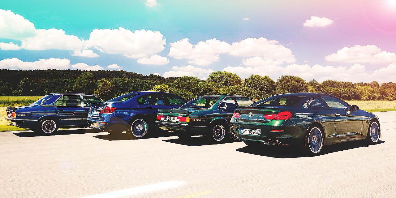 Alpinas past and present - E12 B7 S Turbo Saloon vs. F10 B5 Bi-Turbo Edition 50 Saloon and E24 B7 S Turbo Coupé vs. F13 B6 Bi-Turbo Edition 50 Coupé
