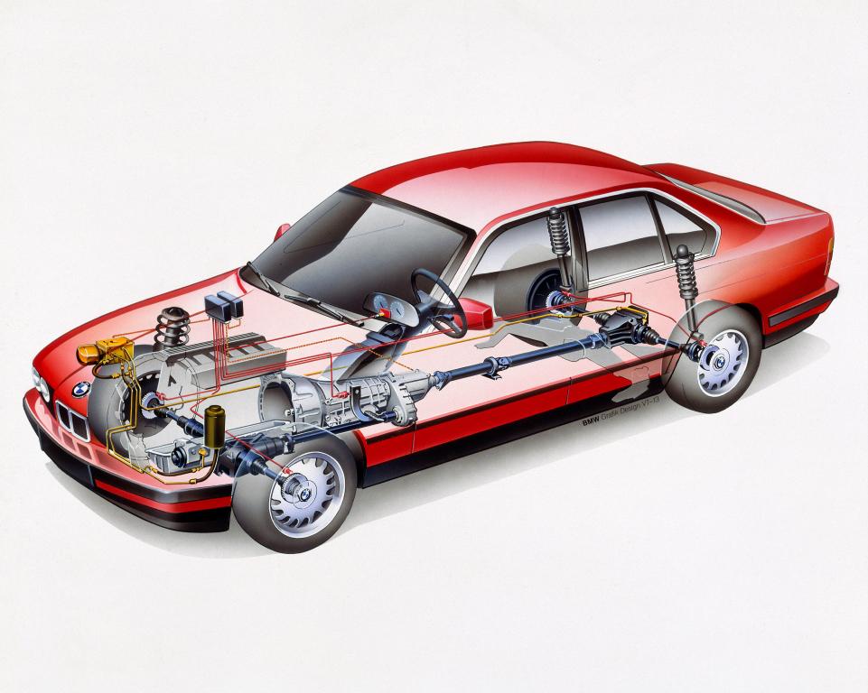 E34 BMW 525iX tech detail