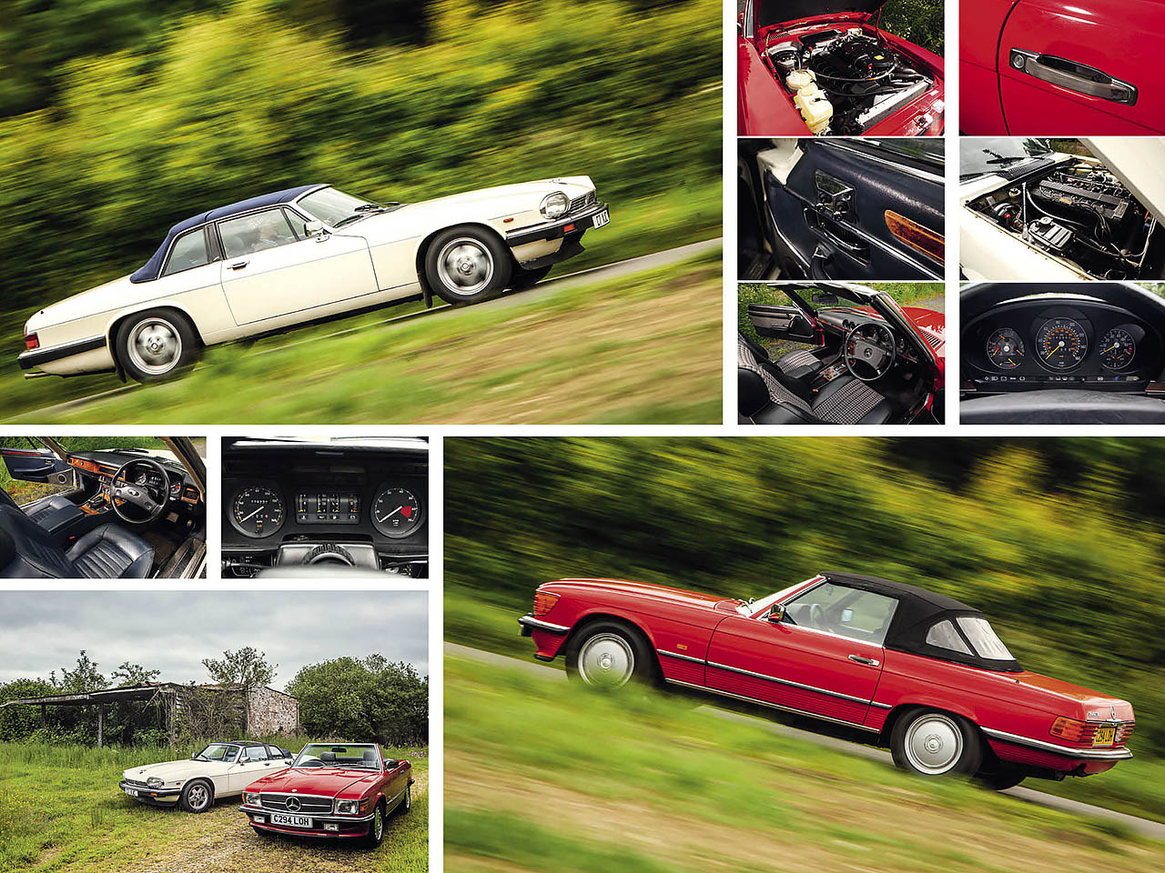 Jaguar XJ-SC vs. Mercedes-Benz 300SL R107 road test