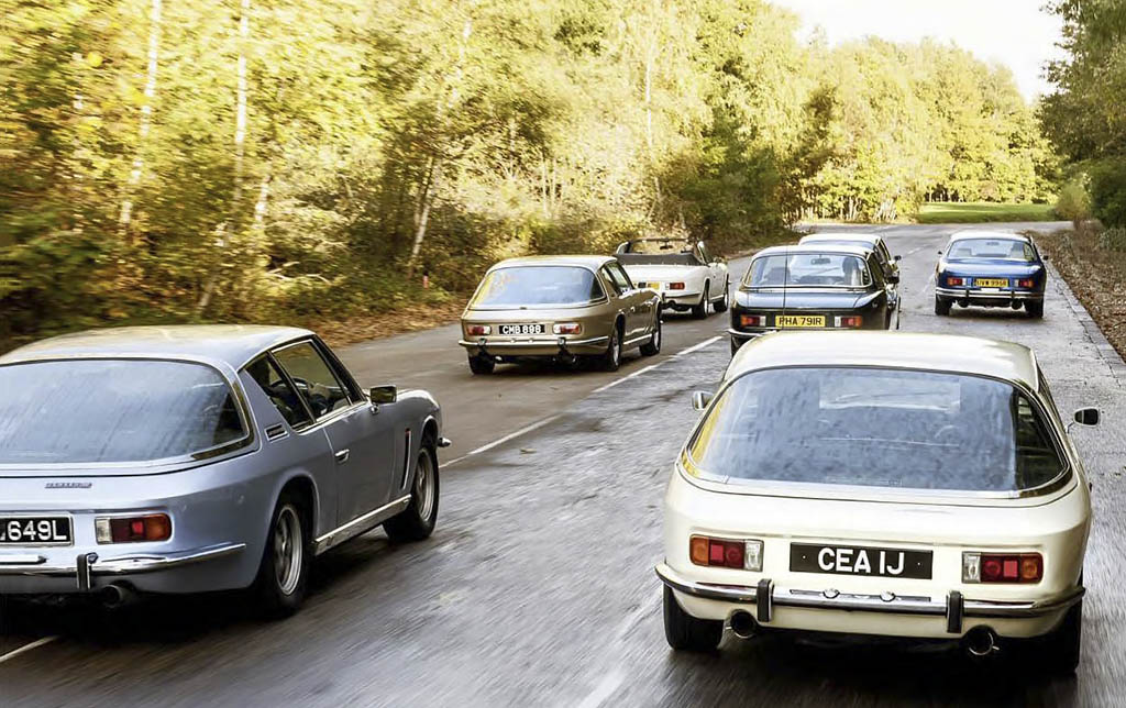 Group test Jensen Interceptor and FF all modifications