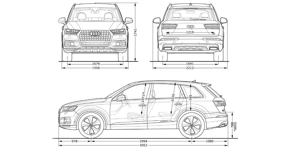 2016 Audi Q7 S line 3.0 TDI Quattro Typ-4M