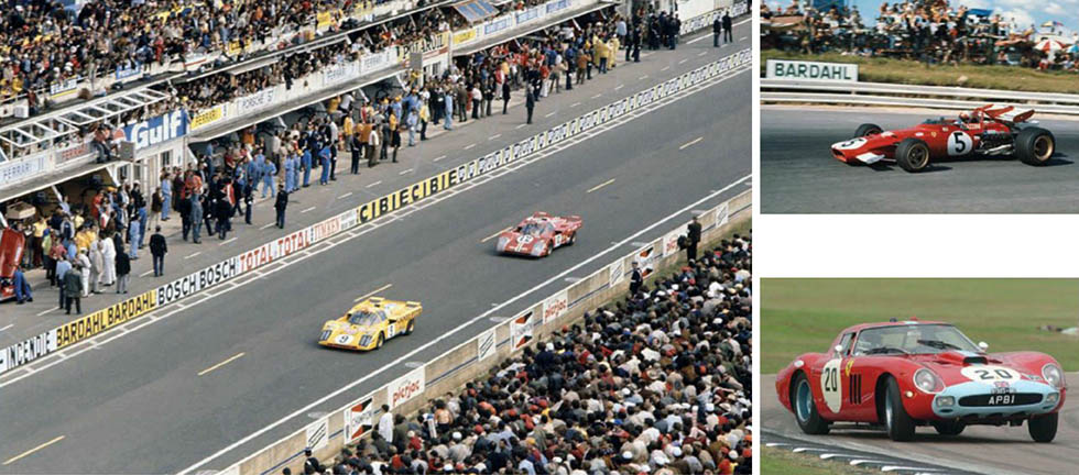 De Cad's yellow 512M howls past the pits at Le Mans in 1971, his first drive in the 24 Hours