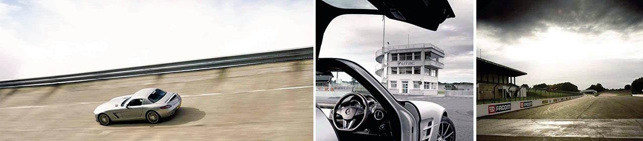 2011 Mercedes-Benz SLS AMG banked track driven