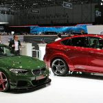 As well as the lurid ACL2 AC Schnitzer also brought along its X6 'Falcon' to Geneva and if you want a huge 4x4 Coupé with a barrel load of attitude then this has to be the car for you. We loved the British Racing green monster though, all the way from its M4 sourced engine to the stripped out cockpit and extreme bodywork. With 570hp you can guarantee it'll be quite a performer