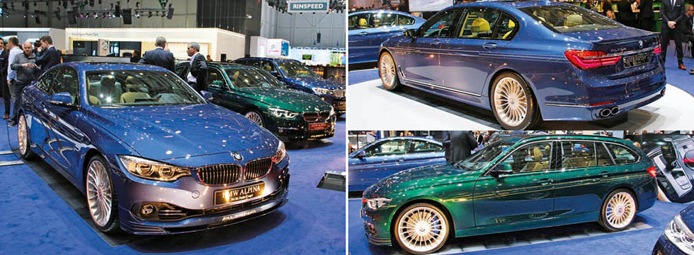 While the 608hp B7 xDrive was the show debutant for Alpina it always brings along a great selection of other machinery on which to feast one's eyes. The B4 Bi-Turbo Coupé looked sublime, the B3 Bi-Turbo Touring would be the ideal solution for the family man while the B6 Bi-Turbo Gran Coupé is still one of our all-time favourites.