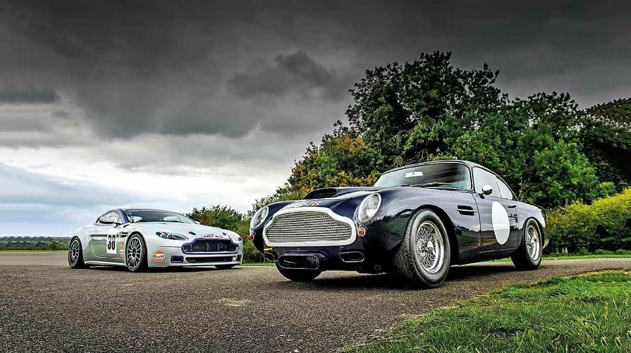 Twin test 1960 Aston Martin DB4 GT and 2016 Aston Martin V8 Vantage N24
