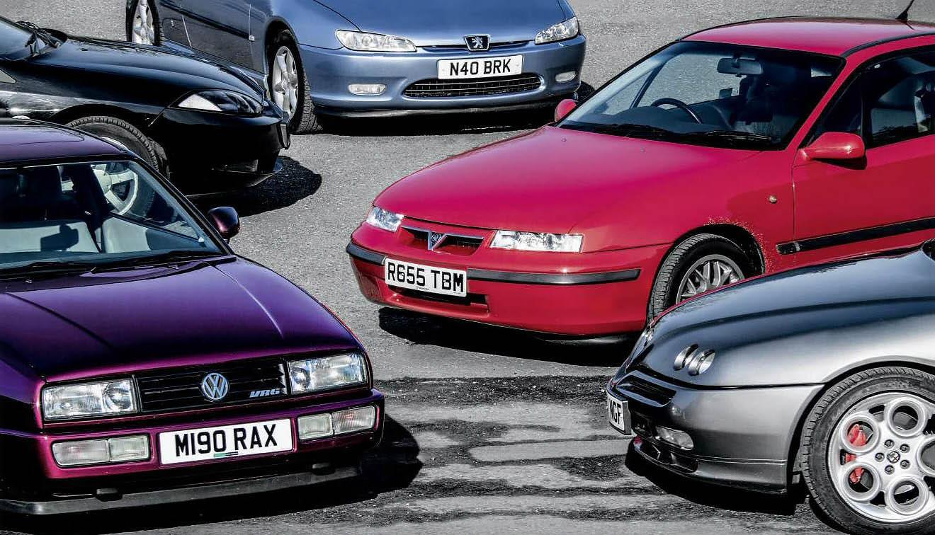 Peugeot 406 Coupé vs. Alfa Romeo GTV V6 vs. Ford Cougar V6 vs. VW Corrado VR6 and Opel/Vauxhall Calibra V6 - road test