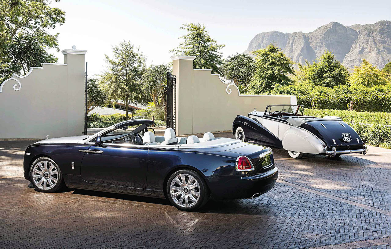 1952 Rolls-Royce Dawn Drophead Coupé by Park Ward and 2016 Rolls-Royce Dawn