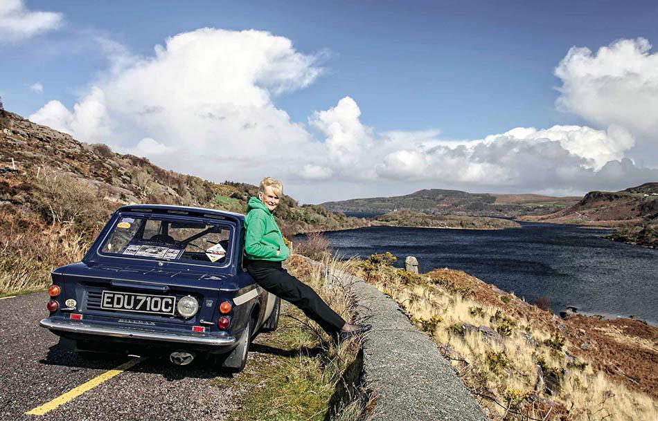 Irish rally driver Rosemary Smith Hillman Imp