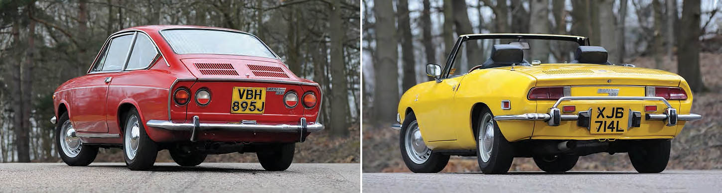 Сomparison test drive Fiat 850 Spider and Coupe Entry level sportscars from the 1970s