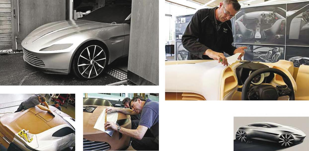 Bond car inside the Aston Martin DB10 build