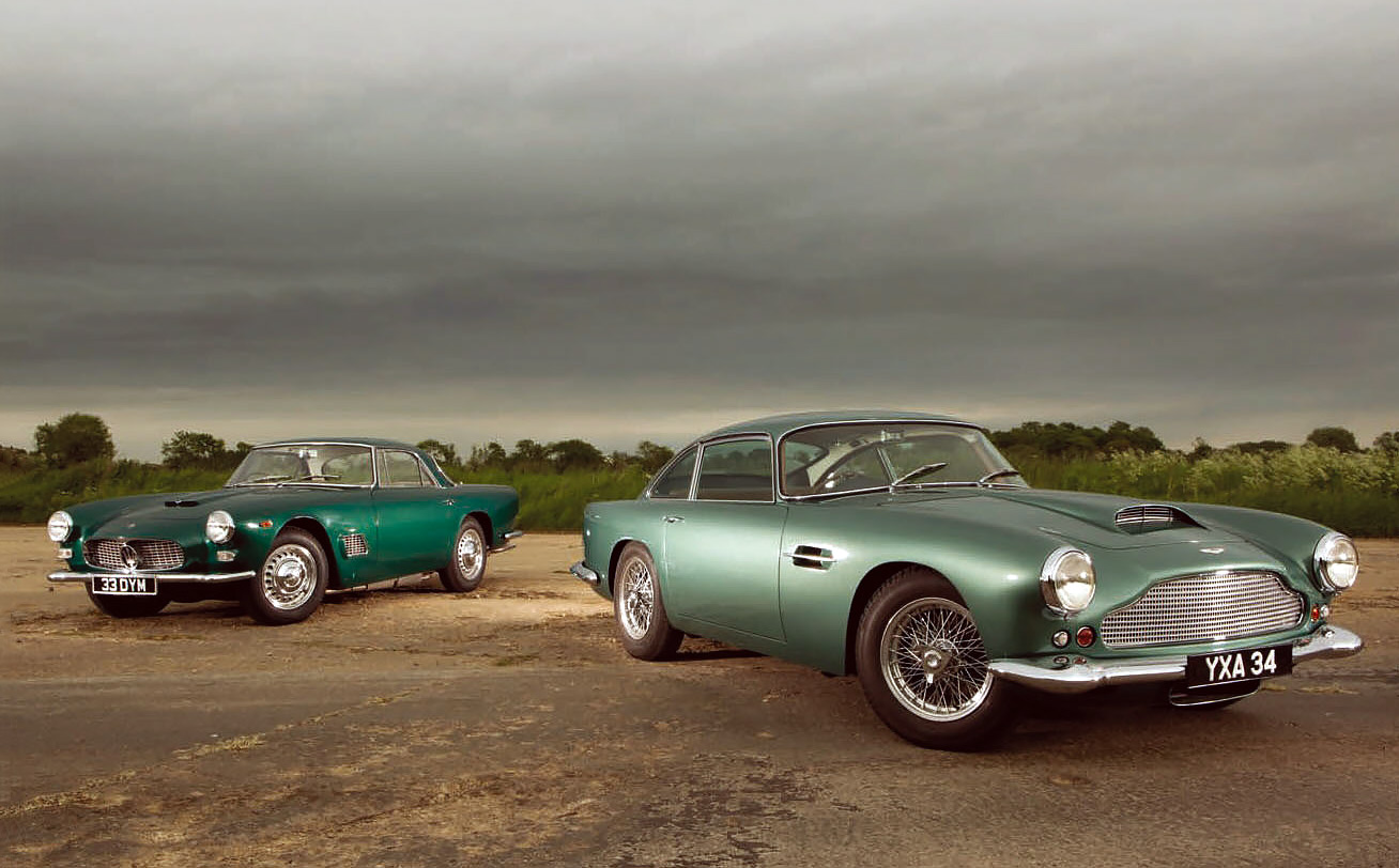 Aston Martin DB4 vs. Maserati 3500GT giant road test