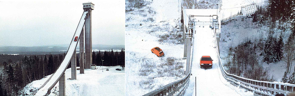 Harald Demuth Audi Quattro ski-jump TV ad