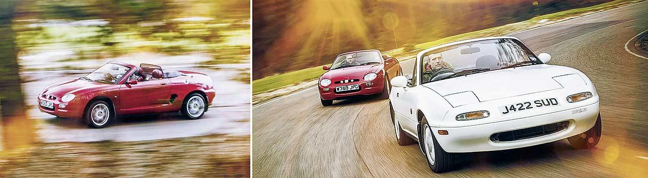 Mazda MX-5 vs. MGF road test