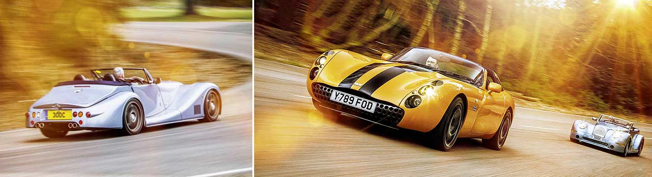 TVR Tuscan Speed Six vs. Morgan Aero 8 road test