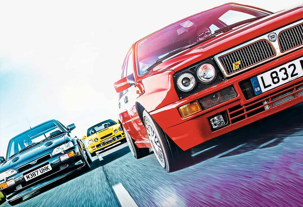 Lancia Delta Integrale Evo 2 vs. Ford Escort RS Cosworth and Toyota Celica GT-Four ST 205 Giant Road Test
