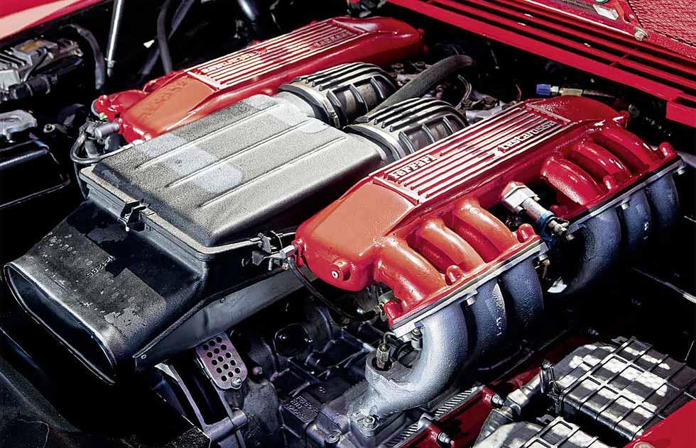 1987 Koenig Ferrari Testarossa Competition Evolution II engine