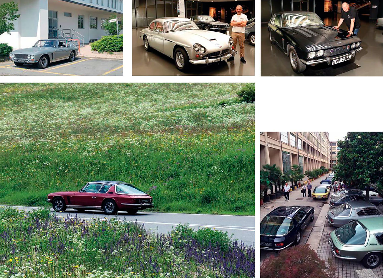 Jensen owners driving from Turin to Windsor