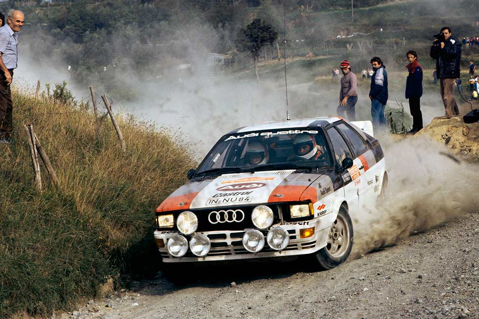 Mouton and Pons on their way to victory in Portugal, 1982