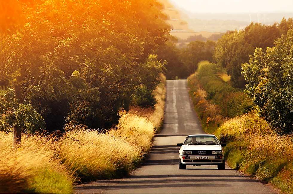 Four-wheel drive turbocharged Audi Quattro road test