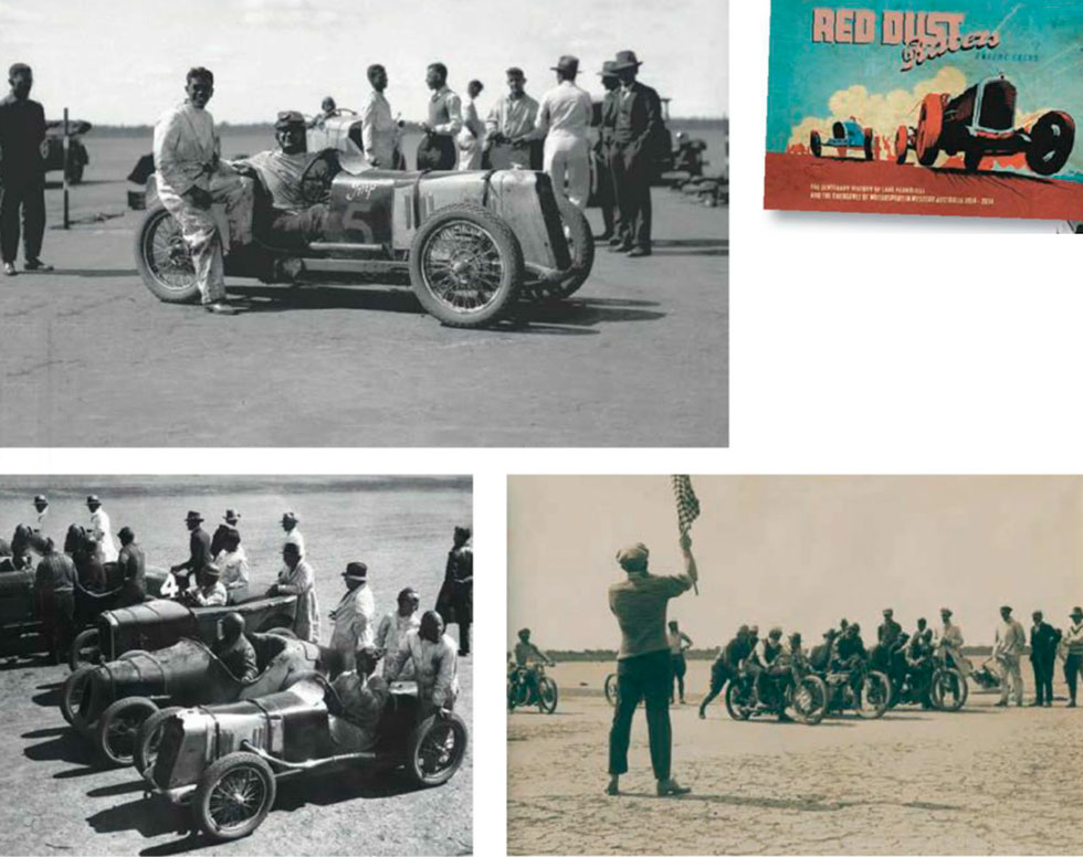 Armstrong lines up with Horan's Salmson San Sebastian and the Austins of Chick and Baird; 1925 10-mile 600cc race, won by Gus Clifton (centre)