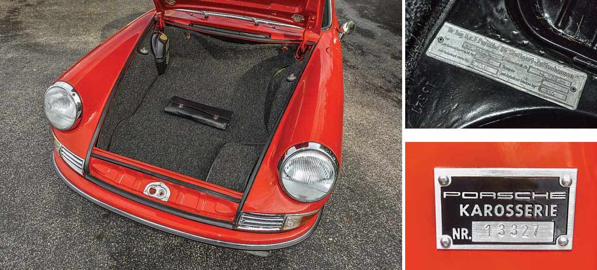 Porsche 901 prototype trunk
