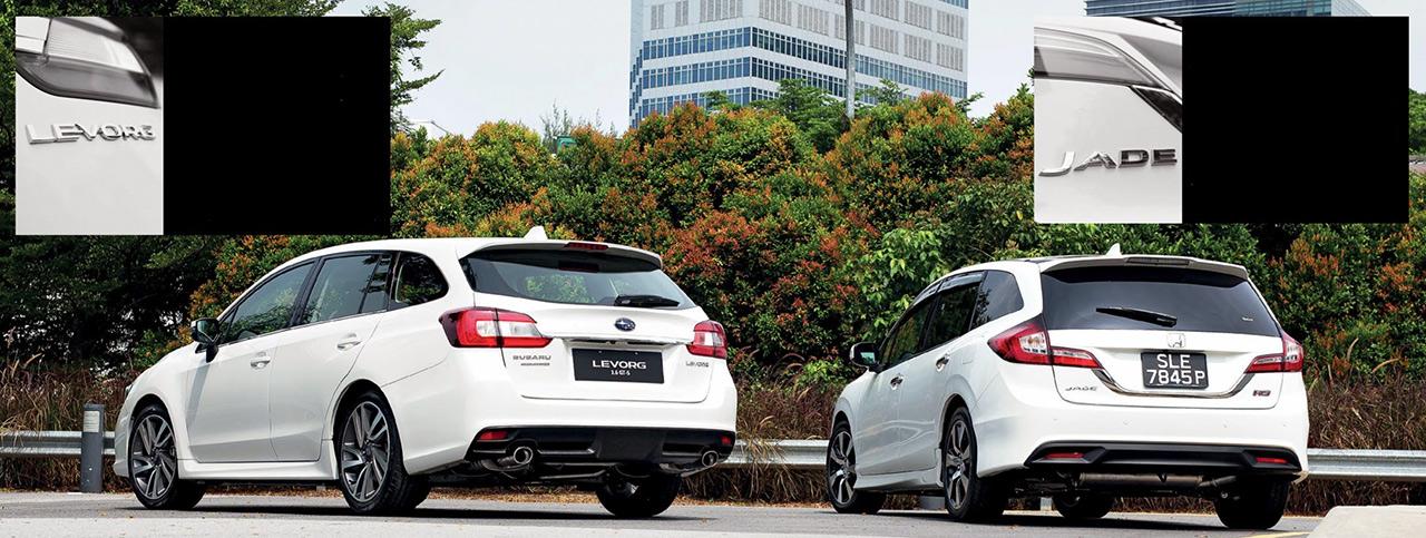 Honda Jade RS 1.5 versus Subaru Levorg GT-S 1.6