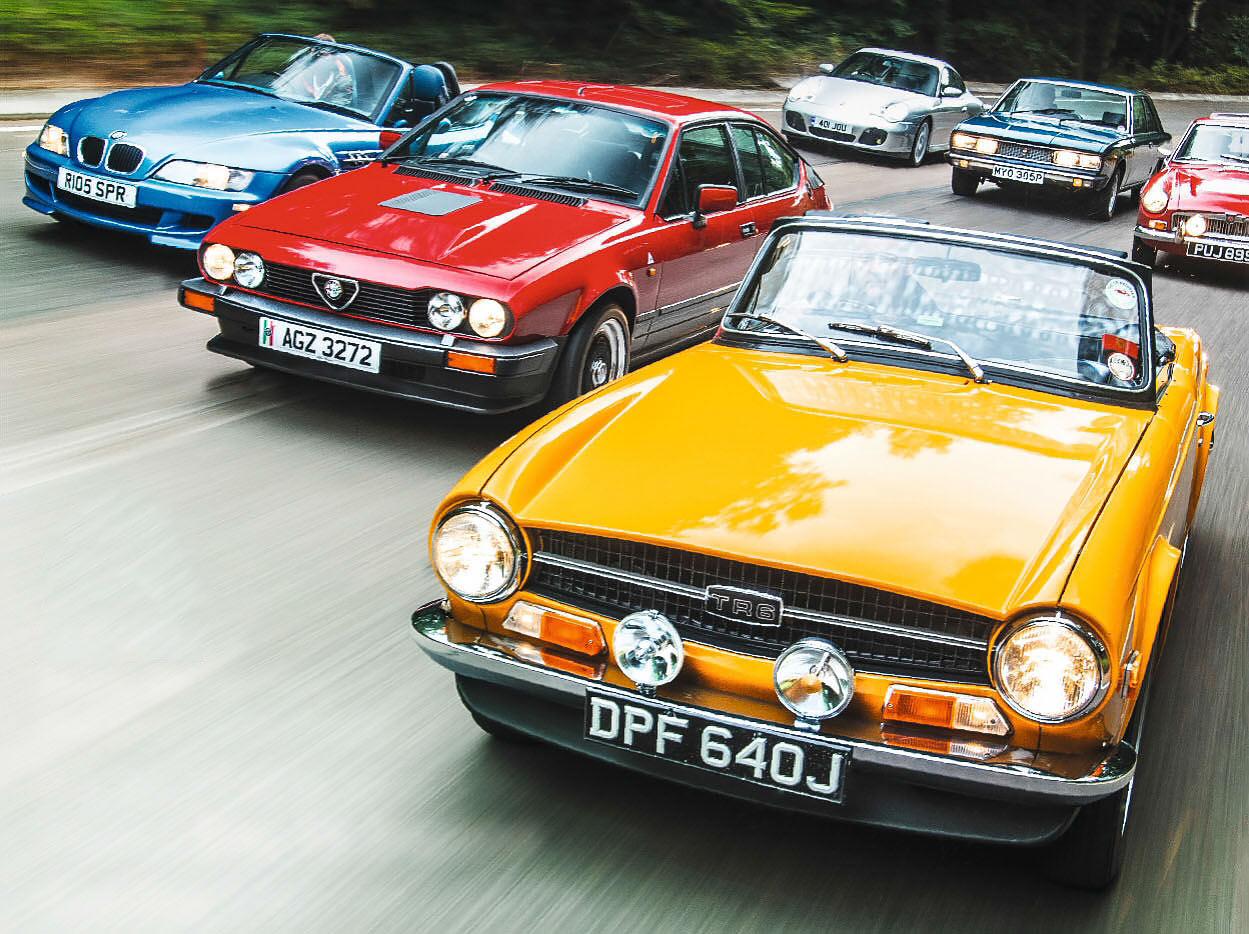 Triumph TR6, MGC GT, Porsche 911 996, Fiat 130 Coupé, Alfetta GTV 6 or BMW Z3M Roadster – 6 cylinders for £15k