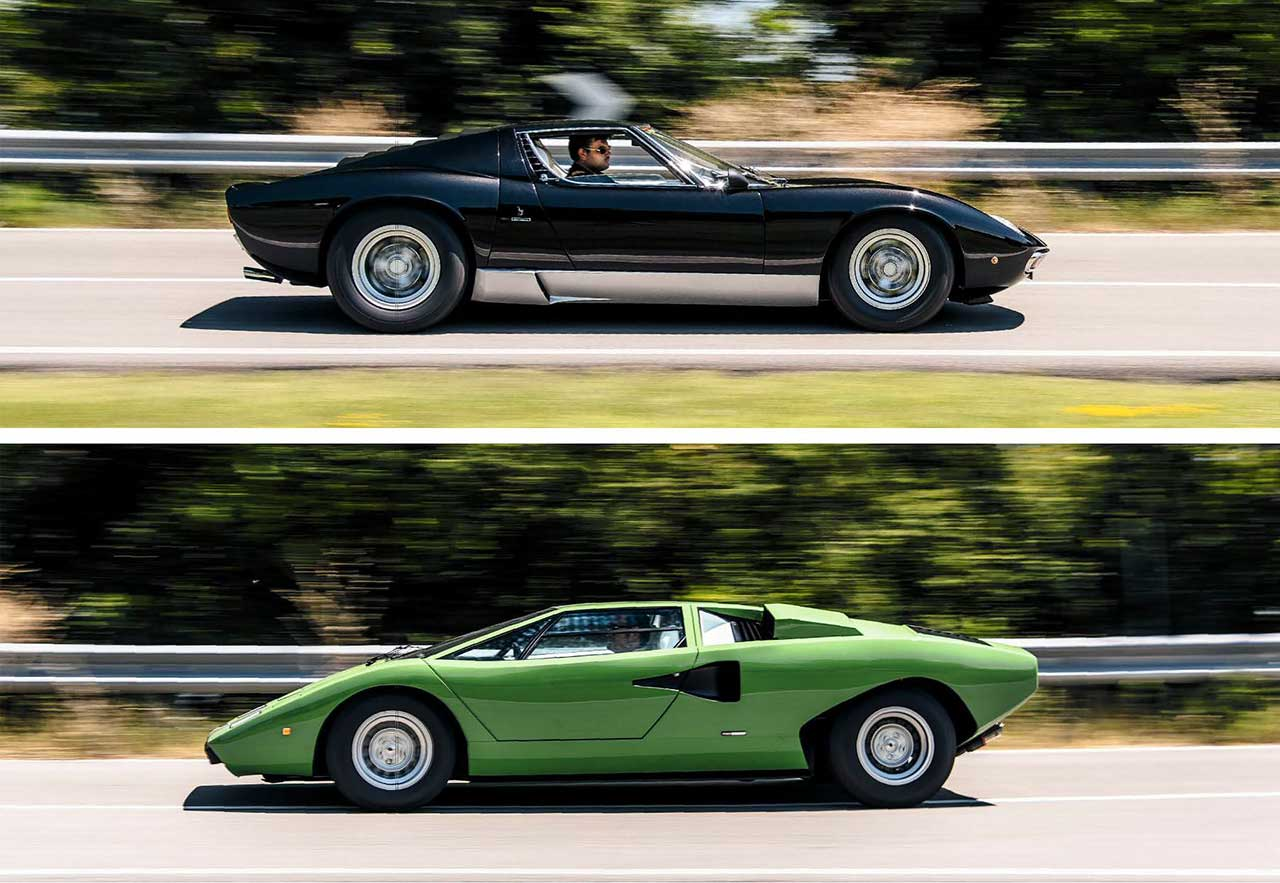 Lamborghini Miura P400 SV vs. Lamborghini Countach LP400 road test