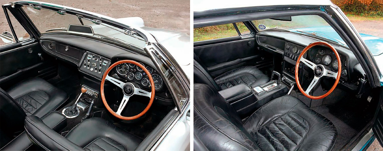 AC-428 Convertible and Coupe interior