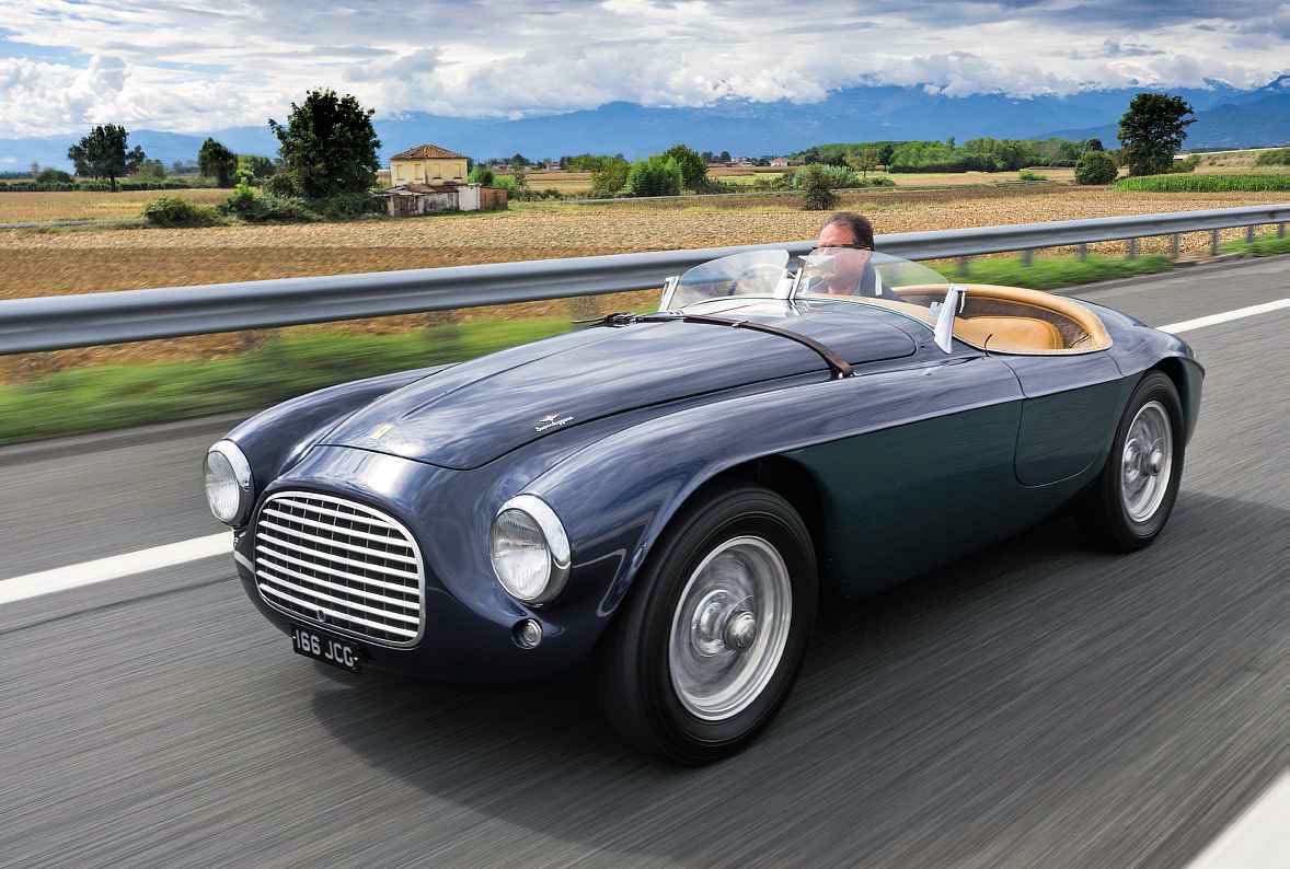 1950 Ferrari 166MM Touring Barchetta road drive