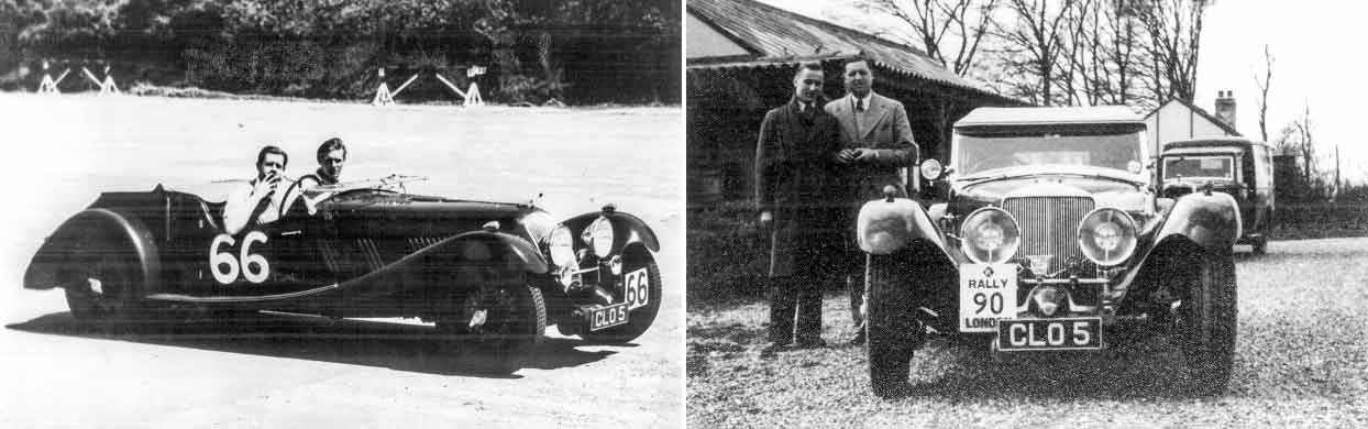 Valfried Zethrin and 1936 Squire 1 1/2 Litre Tourer