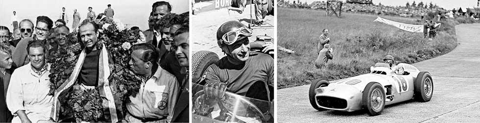 Manuel Fangio and 1954 Mercedes-Benz W196R
