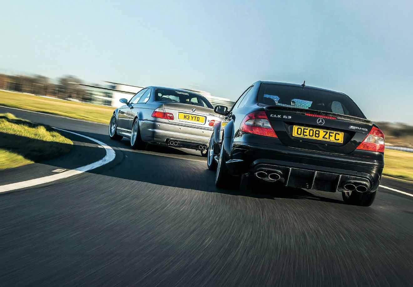 BMW M3 CSL E46 vs. Mercedes-Benz CLK63 AMG Black Series C209
