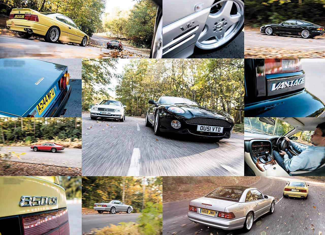 Ferrari 400i vs. Jaguar XJ-S, BMW 850 E31, Mercedes-Benz SL600 R129 and Aston-Martin DB7 - the best V12 from £5k