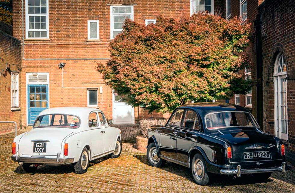 1950s baby saloons road test Lancia Appia Series III vs. Riley One-Point-Five