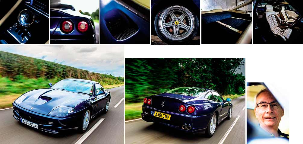 The owner of Ferrari 550 Maranello Mike Phillips